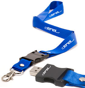 Promotional Lanyard USB Flash Drive, 2GB and up Capacity Available pictures & photos