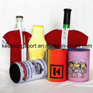 Fashionable and Customized Insulated Neoprene Bottle Cooler, Bottle Holder