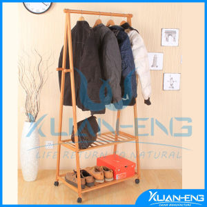 Bamboo Garment Rack Display Shoe Shelf pictures & photos