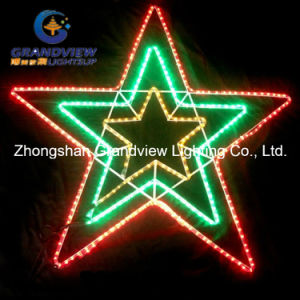 X-Large 123cm Width LED Red Green Yellow Flashing Star Lights pictures & photos