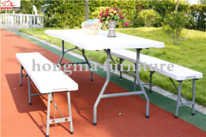 Hot Sale 6ft Plastic Folding Rectangular Table for Banquet, Picnic, Party pictures & photos