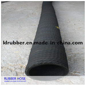 Abrasion Resistance Rubber Corrugated Surface Sandblasting Hose with Fabric Insert pictures & photos