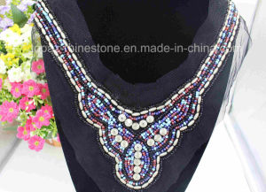 Sew on Clothing Rhinestone Appliques Beads Mesh Handmade Embroidery (TA-003) pictures & photos