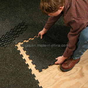 Anti-Slip Interlocking Rubber Tiles Floor for Gym pictures & photos