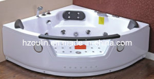 Square White Acrylic Sanitary Whirlpool Massage Bathtub (OL-004) pictures & photos