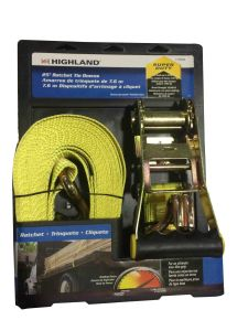 "2""X27′ Ratchet Strap with Double J Hooks"