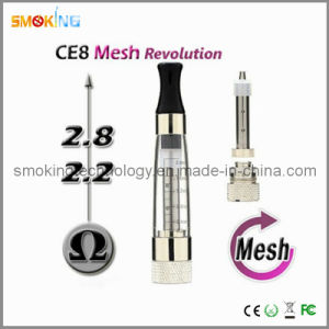 No Wick Atomizer CE8 Atomizer with Changeable Mesh Coil Head 2.0 Ml (great vapor)