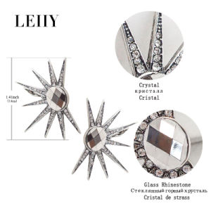 Punk Style Oval Gray Glass Rhinestone Crystal Ear Cuff Clip Earrings pictures & photos