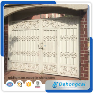 Anti-Theft Powder Coated Wrought Iron Gate/Stainless Steel Gate with Galvanized Panel pictures & photos
