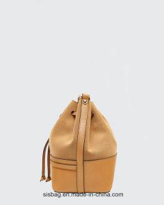 Designer PU Nubuck Leather Bucket Handbag Drawstring Bag pictures & photos