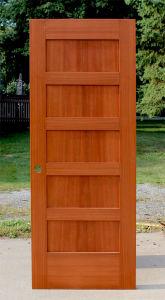 Stile and Rail 5 Panel Oak Wood Door Shaker Door pictures & photos