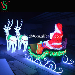Outdoor LED Lighted Santa Claus Sleigh Christmas Decoration pictures & photos