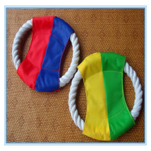 Pet Toy Cat and Dog Toy Cotton Rope Frisbee pictures & photos