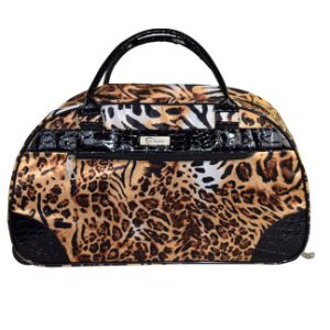 Fashion Leopard Print Travel Bag PVC Trim Small Order Accepted pictures & photos