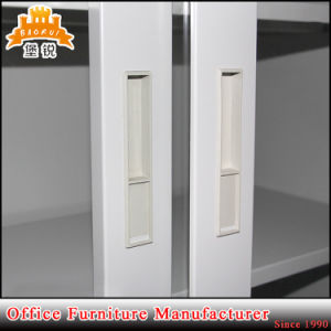 Office up Sliding Glass Door Steel Filing Cabinet for Storage pictures & photos