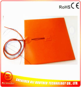 24V 150W 380*380*1.5mm Silicone Rubber Heater for 3D Printer pictures & photos
