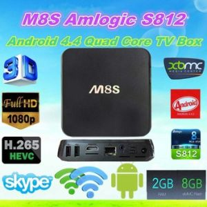 Hot Selling Quad Core Google Amlogic S812 Android TV Box M8s 2GB/8GB Kodi Bluetooth Dual-Band WiFi Better Minix pictures & photos
