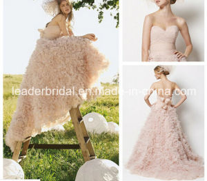 Pink Nude Tulle Wedding Ball Gown Fashion Vestidos Bridal Wedding Dress Ld11528 pictures & photos
