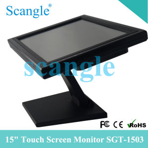 Scangle Sgt-1503 15 Inch POS Touch Screen Monitor Display pictures & photos