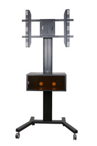 "Public TV Floor Stand Wheelbase 30-60"" Landscape & Portrait Media Box (AVB 106B) pictures & photos"