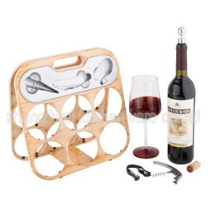 Six Bottle Wine Rack Varies Designs (608355-C/D/E/F/G/H/I/J) pictures & photos