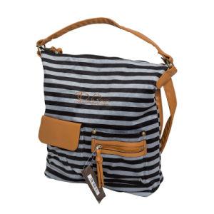 Fashion Designer Women Stripe Handbag Shoulder Bag pictures & photos