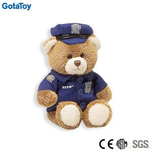 Custom Stuffed Toy Plush Police Teddy Bear in Uniform Soft Toy pictures & photos