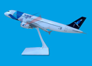 Customized Plastic Material Scale 1:100 A320 Plane Model pictures & photos