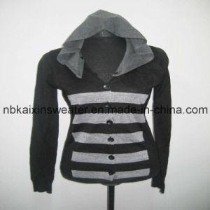 Ladies Detachable V-Neck Cardigan Sweater (KX-W31)