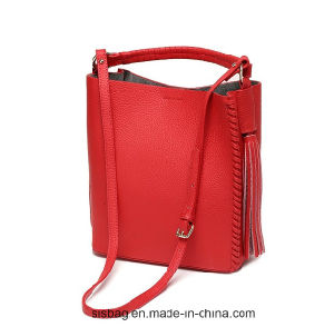 New Fashion PU Weave Bag Tassel Handbag for Lady pictures & photos