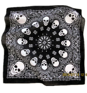 Custom Made Customized Design Skull Printed Promotional Cotton Biker Sports Bandana Headband pictures & photos