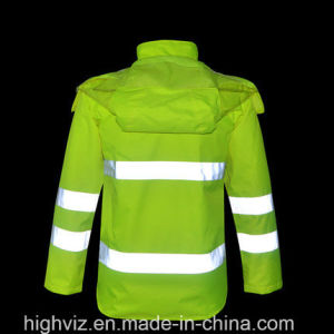 Reflective Safety Rain Jacket with ANSI107 Certificate (C2440) pictures & photos