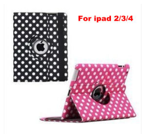 360 Degree Rotate Sleep and Auto Leather Case for iPad