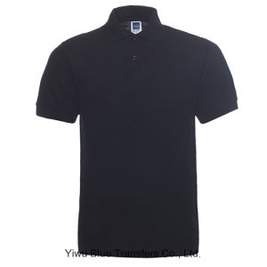 195GSM CVC Honey Comb Polo T-Shirts with Short Sleeve pictures & photos