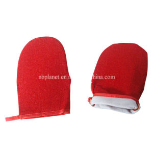 Microfiber Lint Remvoing Cleaning Glove pictures & photos