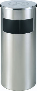 Stainless Steel Waste Bin with No Smoking (YH-104D) pictures & photos