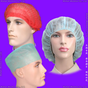Non-Woven/SMS/Surgical/PP/Mop/Crimped/Pleated/Strip/Medical Disposable Clip Mob Cap, Disposable PP Bouffant Cap, Disposable PP Nurse Cap, Disposable Doctor Cap pictures & photos