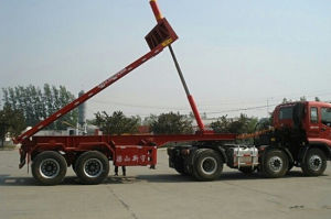 7.7 Meters Length Dump Flat Semi Trailer