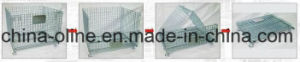 Stackbale Foldable Metal Warehouse Cage (1000*800*840) pictures & photos
