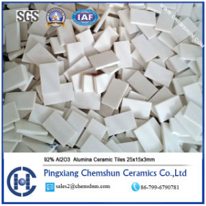Manufacturers Custom-Made 92% Alumina Ceramic Tiles with Size 25X15X3mm pictures & photos