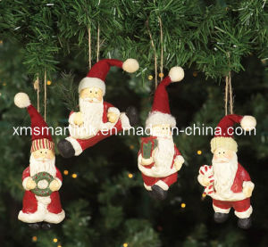 Polyresin Hanging Santa Gifts, Christmas Hanging Decoration pictures & photos