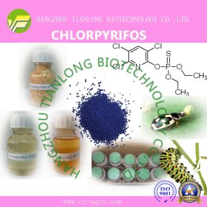 Chlorpyrifos (97%TC, 40.8%EC, 480EC, 240ULV, 450ULV, 300CS, 400CS) pictures & photos