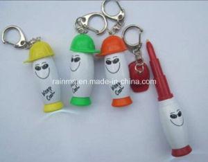 Plastic Smile Cap Telescopic Ball Pen with Light pictures & photos