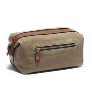 Custom High Quality Waxed Canvas Dopp Kit Unisex pictures & photos