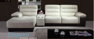 Top Grain Living Room Leather Sofa with Corner A8011 pictures & photos