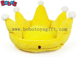 Yellow Color Plush King Crown Style Pet Bed Puppy Dog Sofa Bosw1096/47X32m pictures & photos