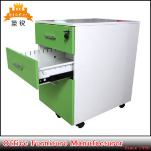 Made in China Steel Welded Kd Mobile Pedestal /Movable Cabinet with 3 Pull Push Drawers pictures & photos