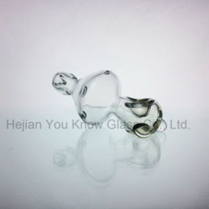 Helix Clear Glass Hand Pipe Glass Smoking Pipes Spoon with Tornado Function pictures & photos