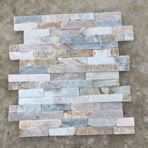 Natural Stone Cream Slate Wall Ledgestone Panels (SMC-SCP303) pictures & photos