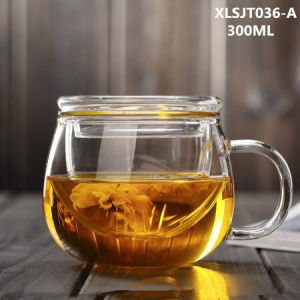 300ml Glass Tea Cup with Filter Tea Glass Drinking Office Glass pictures & photos